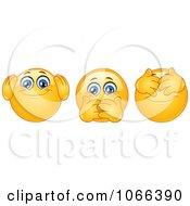 Clipart Hear No Speak No And See No Evil Emoticons Royalty Free Vector Illustration by yayayoyo #COLLC1066390-0157