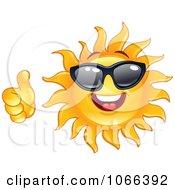 Clipart Thumbs Up Sun Wearing Shades Royalty Free Vector Illustration by yayayoyo