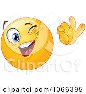 Clipart Winking OK Emoticon Royalty Free Vector Illustration by yayayoyo #COLLC1066395-0157