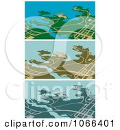 Clipart GPS Maps 1 Royalty Free Vector Illustration by Vector Tradition SM