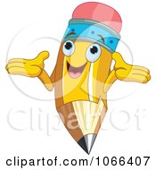 Clipart Happy Pencil Character Royalty Free Vector Illustration by Pushkin