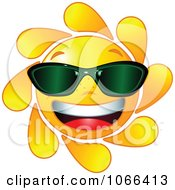 Cheery Sun Wearing Shades