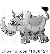 Clipart Peeved Rhino Royalty Free Vector Illustration by Zooco