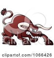 Clipart Peeved Bull Royalty Free Vector Illustration by Zooco