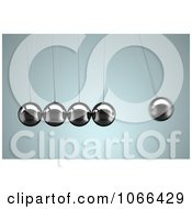 Clipart 3d Rocking Newtons Cradle Royalty Free CGI Illustration by stockillustrations
