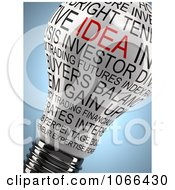 Clipart 3d Lioghtbulb With Idea And Other Words Royalty Free CGI Illustration