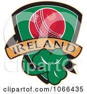 Clipart Ireland Cricket Shield 2 Royalty Free Vector Illustration