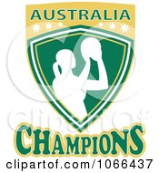 Clipart Australia Champions Netball Shield 2 Royalty Free Vector Illustration