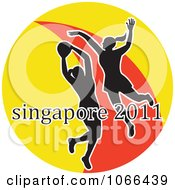 Clipart 2011 Singapore Netball Players 1 Royalty Free Vector Illustration