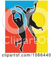 Clipart Netball Players Royalty Free Vector Illustration
