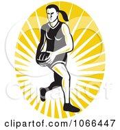 Clipart Netball Player Logo Royalty Free Vector Illustration