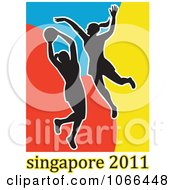 Clipart 2011 Singapore Netball Players 2 Royalty Free Vector Illustration