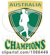 Clipart Australia Champions Netball Shield 1 Royalty Free Vector Illustration
