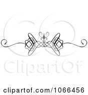 Clipart Ornate Swirl Rule Border 5 Royalty Free Vector Illustration by KJ Pargeter