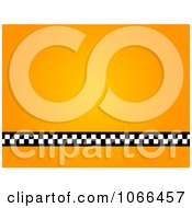 Clipart Orange Taxi Background Royalty Free Illustration