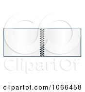 Clipart Open Spiral Notebook Royalty Free Illustration