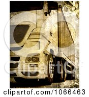 Clipart Grungy Big Rig Royalty Free CGI Illustration