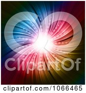 Clipart Colorful Starburst With Bright Light Royalty Free Vector Illustration