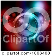 Clipart Orbs And A Music Speaker With Colorful Lights Royalty Free Vector Illustration