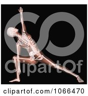 Clipart Medical 3d Female Skeleton In A Yoga Pose 2 Royalty Free CGI Illustration