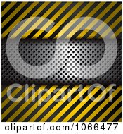 Clipart Hazard Stripes And Metal Background Royalty Free Vector Illustration