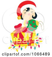 Asian Girl With Christmas Items