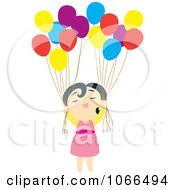 Asian Girl With Balloons
