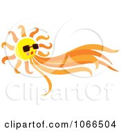 Clipart Sun Blowing Wind Royalty Free Vector Illustration by Cherie Reve