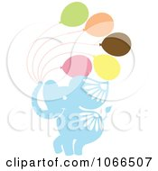 Clipart Elephants With Balloons Royalty Free Vector Illustration