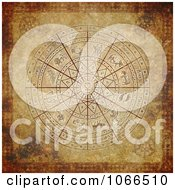 Clipart Antique Aged Zodiac Circle Royalty Free CGI Illustration
