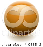 Clipart Shiny Orange Sphere Website Button Royalty Free Vector Illustration