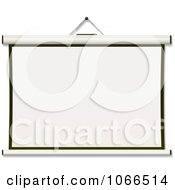 Clipart Hanging 3d Projection Screen Royalty Free Vector Illustration by michaeltravers