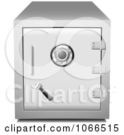 Clipart 3d Metal Safe Locked And Secured Royalty Free Vector Illustration