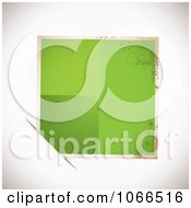 Clipart Grungy Green Tag In A Slot Royalty Free Vector Illustration