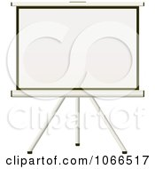 Clipart 3d Projection Screen On A Tripod Royalty Free Vector Illustration