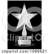 Clipart 3d Silver Star Trophy Award Royalty Free Vector Illustration
