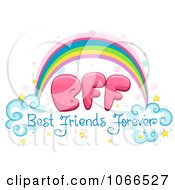 Clipart Best Friends Forever Rainbow Royalty Free Vector Illustration