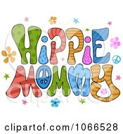 Clipart Hippie Mommy Sign Royalty Free Vector Illustration