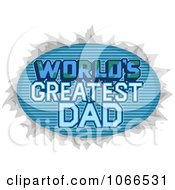 Clipart Worlds Greatest Dad Sign Royalty Free Vector Illustration
