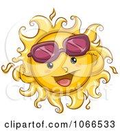 Clipart Summer Sun Lifting Sunglasses Royalty Free Vector Illustration