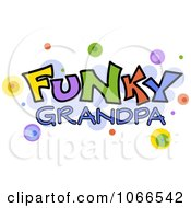 Clipart Funky Grandpa Sign Royalty Free Vector Illustration
