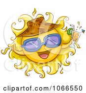 Clipart Summer Sun Holding Juice Royalty Free Vector Illustration by BNP Design Studio
