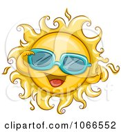 Clipart Summer Sun Wearing Sunglasses Royalty Free Vector Illustration