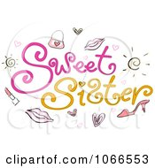 Clipart Sweet Sister Sign Royalty Free Vector Illustration