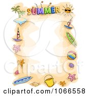 Clipart Doodled Summer Border Royalty Free Vector Illustration by BNP Design Studio