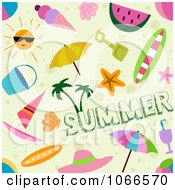 Clipart Seamless Summer Time Background Pattern Royalty Free Vector Illustration by BNP Design Studio