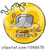Clipart Food Blog Website Icon Royalty Free Vector Illustration