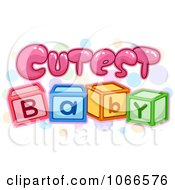 Clipart Cutest Baby Block Sign Royalty Free Vector Illustration