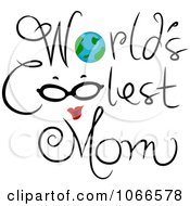 Clipart Worlds Coolest Mom Sign Royalty Free Vector Illustration