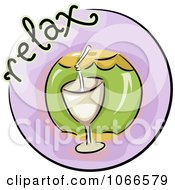 Clipart Relax Website Icon Royalty Free Vector Illustration